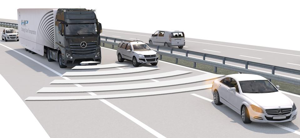 selbstfahrender LKW Daimler